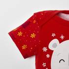 """Боди Крошка Я """"Новогодний медвежонок"""", красный, р.28, рост 86-92 - фото 105479251"""