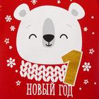 """Боди Крошка Я """"Новогодний медвежонок"""", красный, р.28, рост 86-92 - фото 105479252"""
