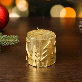 """Candle new year """"New year"""" 6,5x7, gold"""