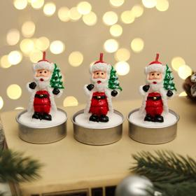 """Свеча новогодняя """"Дед мороз с ёлкой"""", 4×6 см, цена за 1 штуку"""