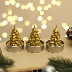 """Свеча новогодняя """"Ёлка золотая"""", 4×6 см, цена за 1 штуку"""