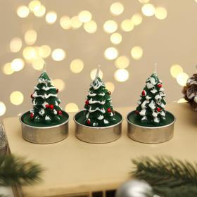 "Свеча новогодняя ""Ёлка зелёная"", 4×6 см, цена за 1 штуку"