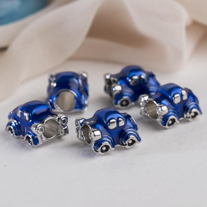 """Талисман """"Машина"""", цвет синий в серебре"""