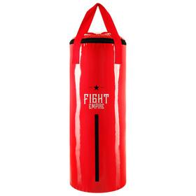 Мешок боксёрский FIGHT EMPIRE, на ленте ременной, красный, 80 см, d=31 см, 25 кг
