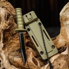 Knife keychain with sheath, blade 6 cm