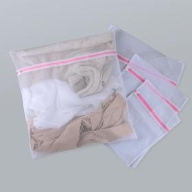 Набор мешков для стирки Доляна, 4 шт, цвет белый