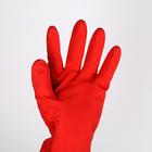 Перчатки хозяйственные латексные с утеплителем, размер L, 85 гр, цвет красный - фото 4647911