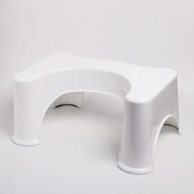 Детская пластиковая подставка, цвет белый