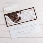 """Деревянная открытка-приглашение """"Универсальная"""" конгрев, накладной элемент, бабочка"""