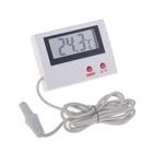 Термометр электронный, 2 режима, с уличным датчиком, на батарейках, пластик