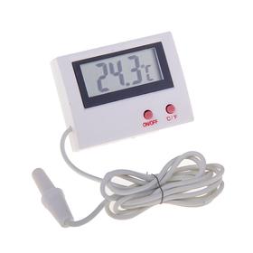 Термометр электронный, 2 режима, с уличным датчиком, на батарейках, пластик Ош