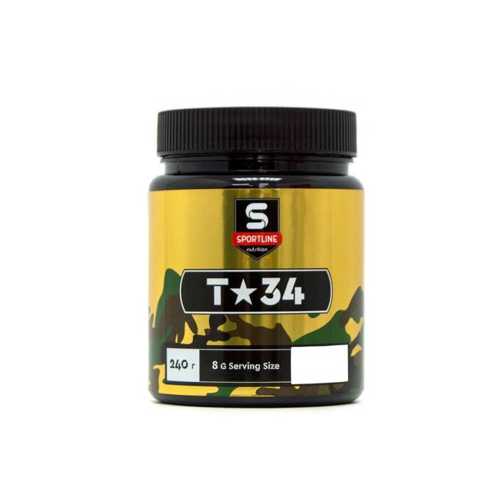 Предтренировочный комплекс SportLine Nutrition T-34 240g (Adrenaline)