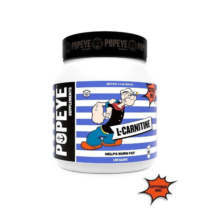 POPEYE Supplenments L-Carnitine, Jar 500g (Citrus Mix)