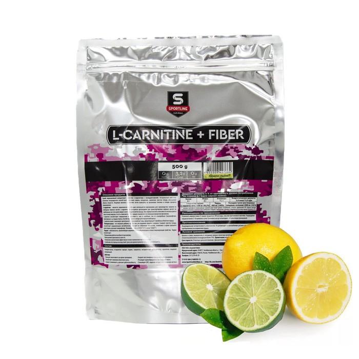 L-Carnitine+Fiber SportLine Bag 500g (Лимон-лайм)