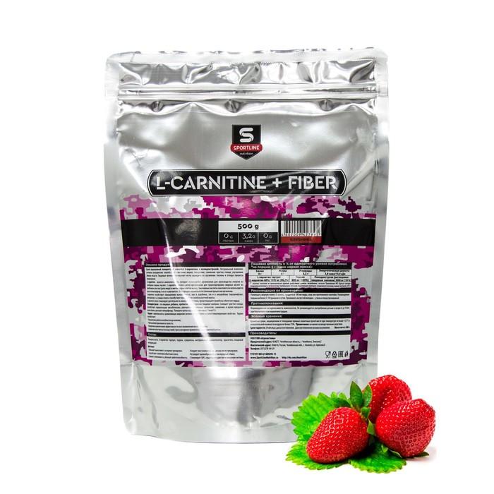 L-Carnitine+Fiber SportLine Bag 500g (Клубника)