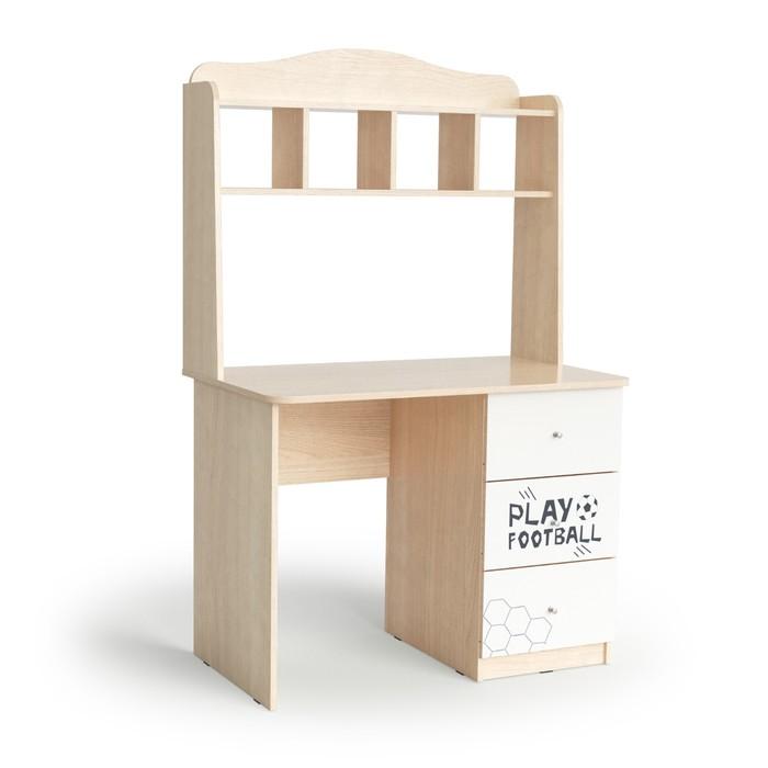 Стол письменный Junior, 1000х600х1580, Белый/Ясень шимо светлый