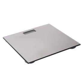УЦЕНКА Весы напольные электронные LuazON LVE-27, до 180 кг, CR2032 (в компл.), металлик