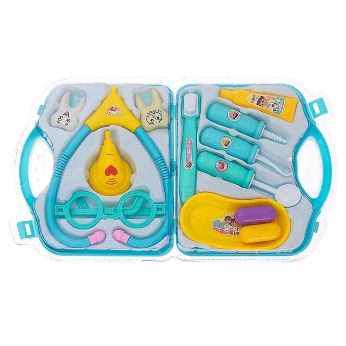 Игровой набор доктора «Лечим зубки», в чемодане - фото 105582315