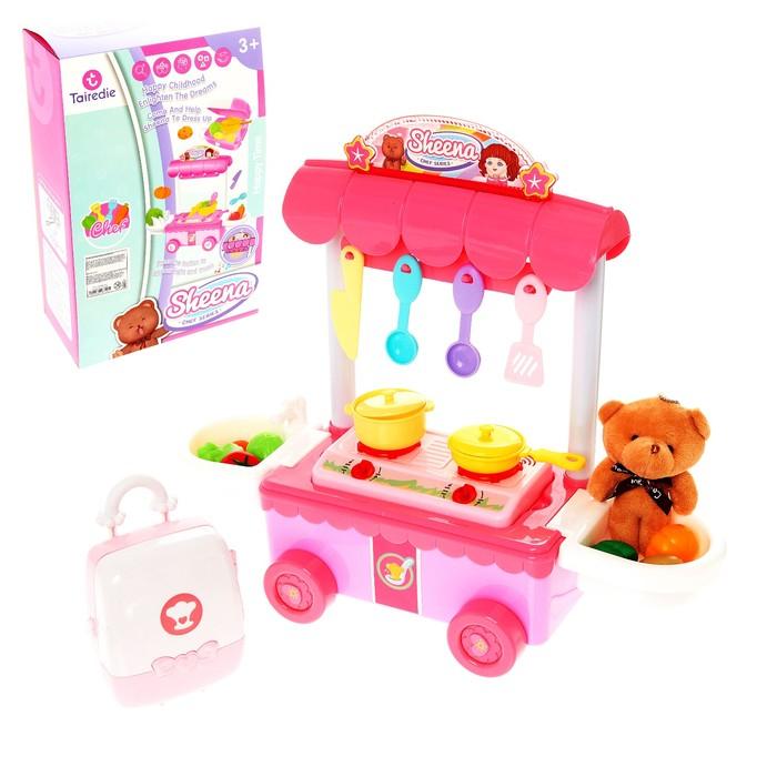 Игровой набор кухня «Маленький шеф», с аксессуарами, со звуковыми и световыми эффектами - фото 105580015