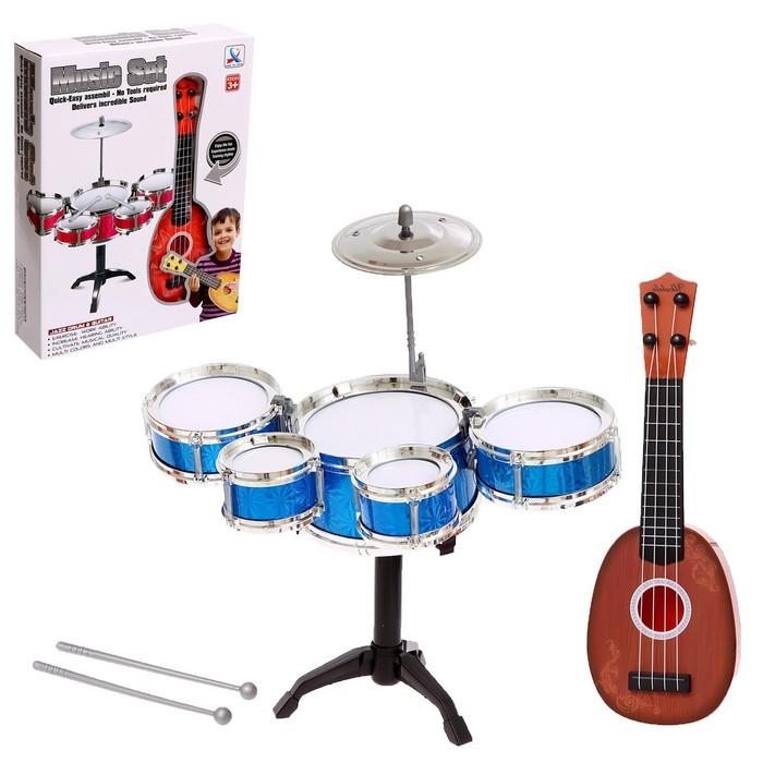 Барабанная установка «Крутой музыкант», с гитарой, МИКС