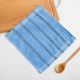 Полотенце кухонное  Экономь и Я Семейное цв. голубой, 25*25 см 100% хлопок