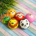 "The ball is soft ""Animals"" 6.3 cm , species MIX"