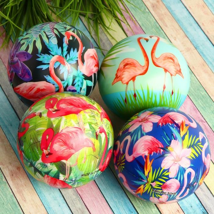 Мяч мягкий «Фламинго», 12 см , виды МИКС