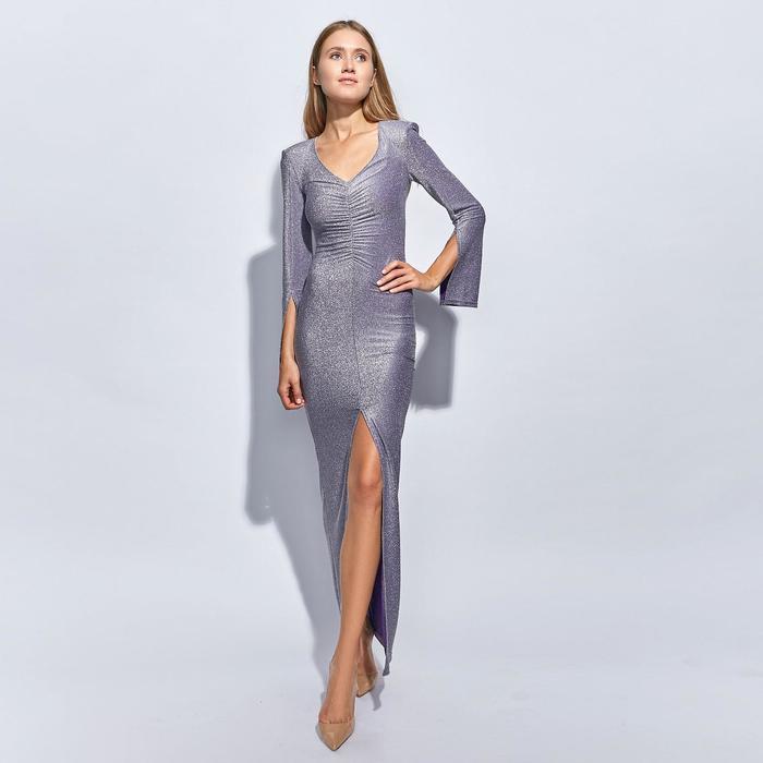 Платье длинное женское MINAKU, размер 44, цвет сиреневый - фото 729947768