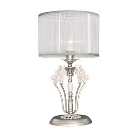 Настольная лампа Prima, 1x40Вт E14, цвет серебро