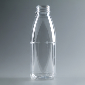 A bottle of milk of 0.5 litres, Universal, transparent , wide-mouthed 0.38 mm