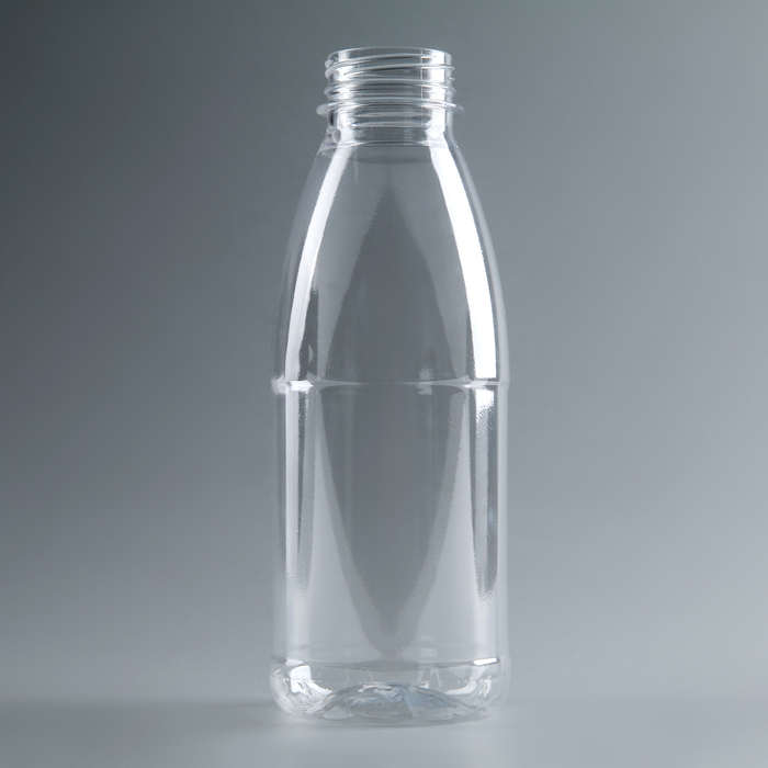 "Бутылка молочная 0,5 л ""Универсал"", прозрачная, с широким горлышком 0,38 мм"
