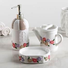 "Bath set ""Provence"", 3 items (soap dish, soap dispenser, Cup)"