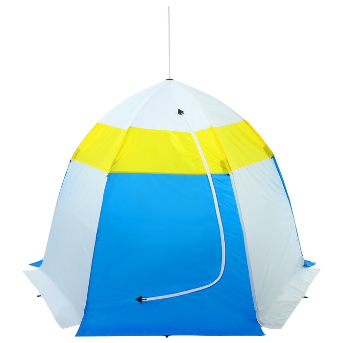 Палатка зимняя «СТЭК» 4-местная с дышащим верхом, алюминиевый крепёж