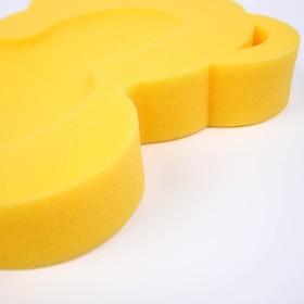 """Подкладка для купания макси """"Мишка"""", цвет желтый"""