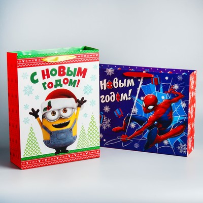 "Pack laminate ""happy New Year!"", 31х40х11 cm, MIX 2"