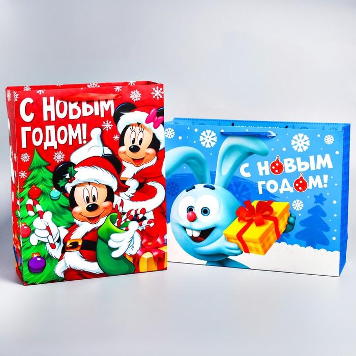 "Пакет ламинат ""С Новым Годом!"", 31х40х11 см, МИКС 4"