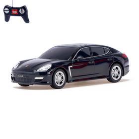 Машина радиоуправляемая Porsche Panamera turbo S, масштаб 1:24, работает от батареек, световые эффекты, цвет чёрный