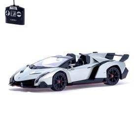 Машина радиоуправляемая Lamborghini Veneno, масштаб 1:14, работает от аккумулятора, световые эффекты, цвет серый, mz 2304J