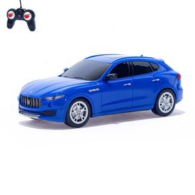 Машина радиоуправляемая Maserati Levante, масштаб 1:24, работает от батареек, цвет синий