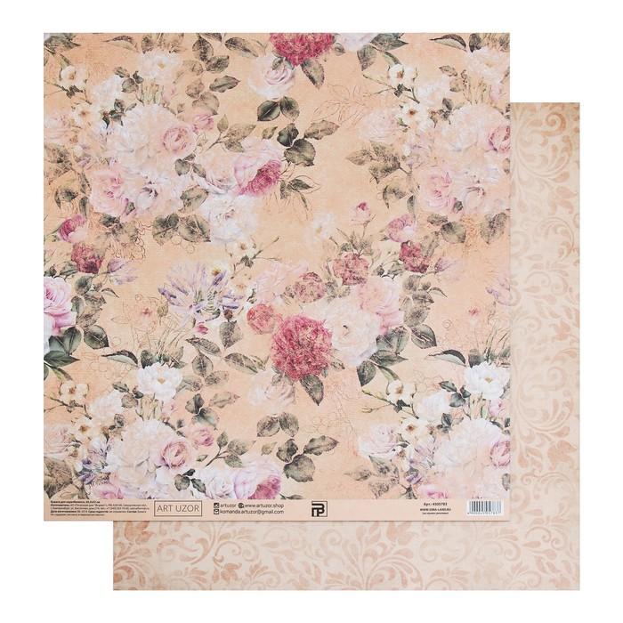 Бумага для скрапбукинга «Бабушкин платок», 30.5 × 32 см, 180 гм