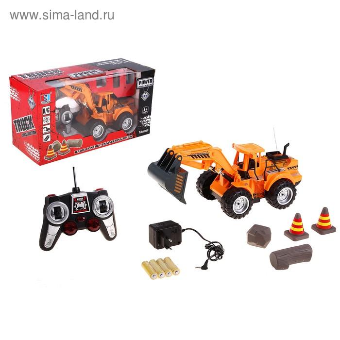 """Трактор радиоуправляемый """"Экскаватор"""", с аккумулятором, 7 функций, световые эффекты"""