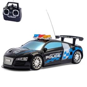 Машина радиоуправляемая «Полиция», масштаб 1:24, работает от батареек, световые эффекты