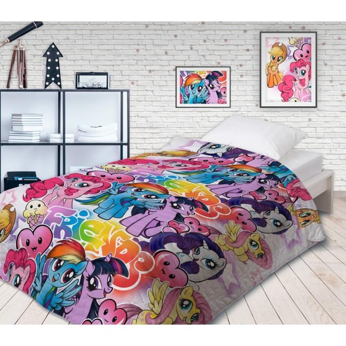 Покрывало стеганое Непоседа НЕОН My Little Pony Граффити 145х200см поплин 105 гм хл100%