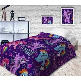 Покрывало стеганое Непоседа НЕОН My Little Pony Дружба 145х200см поплин 105 гм хл100%