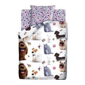Детское постельное бельё 1,5 «Тайная жизнь домашних животных 2» Домашние питомцы, 143х215, 150х214, 70х70см