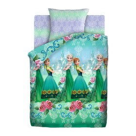 Детское постельное бельё 1,5 «Холодное сердце» Анна и Эльза, 143х215, 150х214, 70х70см