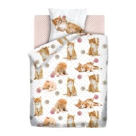 Детское постельное бельё 1,5 «4 YOU» Fun&Cute Cute kittens, 143х215, 150х214, 70х70см