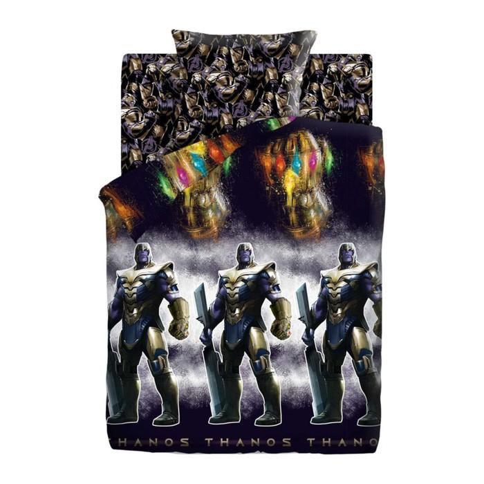 Детское постельное бельё 1,5 «Мстители Neon» Танос, 143х215, 150х214, 70х70см
