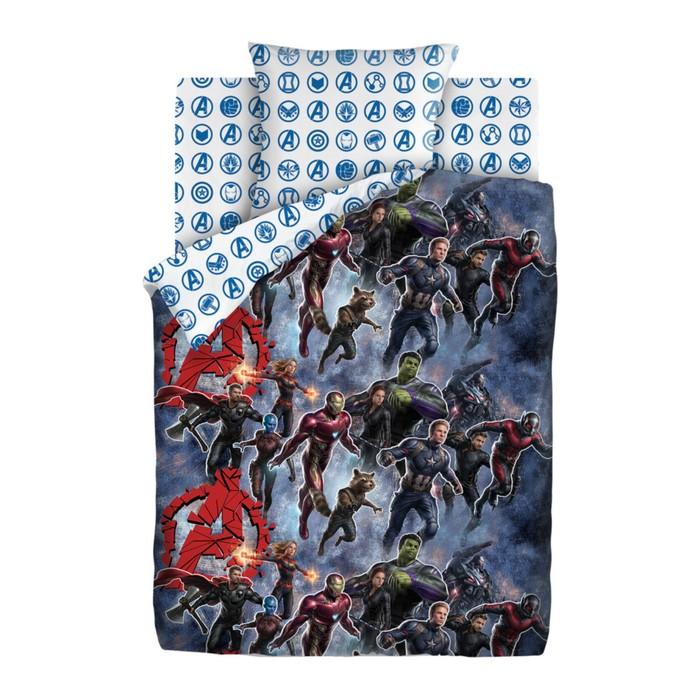 Детское постельное бельё 1,5 «Мстители Neon» На страже, 143х215, 150х214, 70х70см
