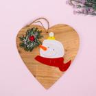 "Christmas pendant ""Forest snowman"""